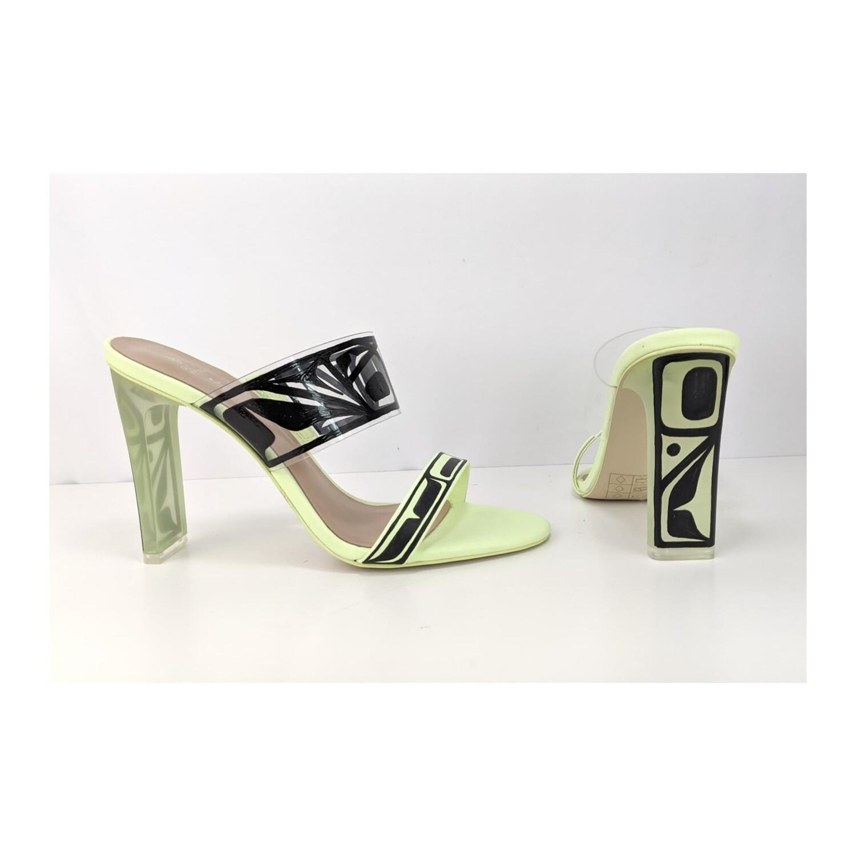 """ Glow In The Dark""  Green Sandals"