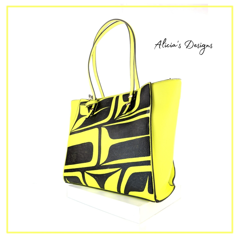 Neon Yellow Tote Bag
