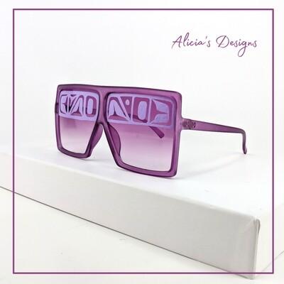 Purple Square Sunglasses