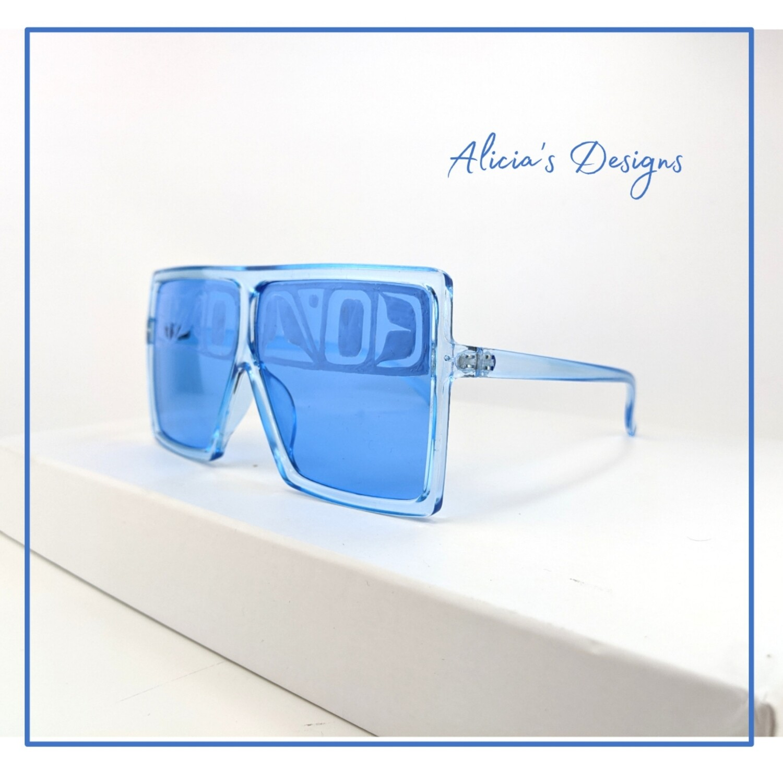 Blue Square Sunglasses
