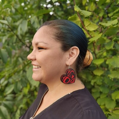 Large Red Heart Earrings