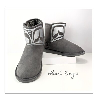 Grey Soft ankle boots