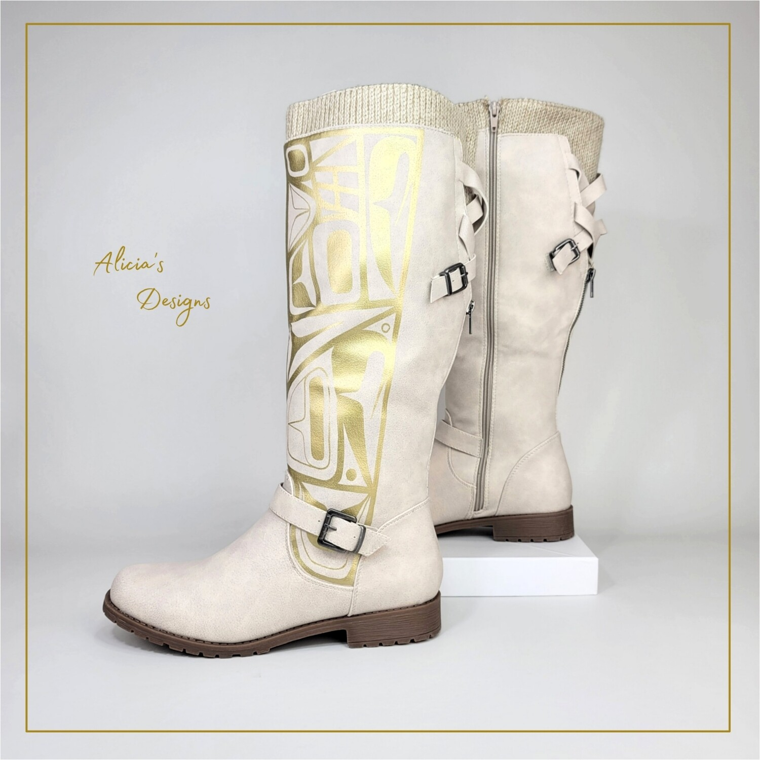 Gold Wolf, White Boots