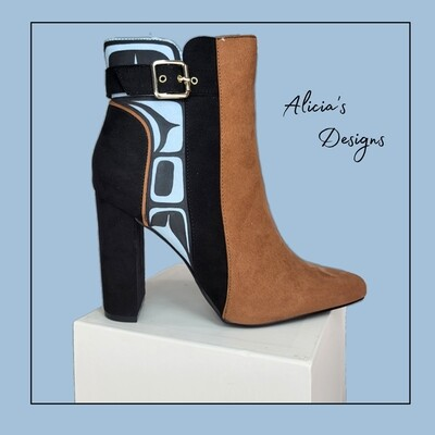 Baby Blue Heel Ankle Boots