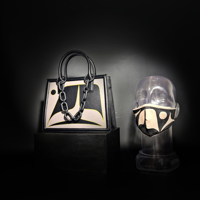 Black Matte Purse & Facemask Set