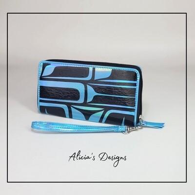 Iridescent Blue Wallet