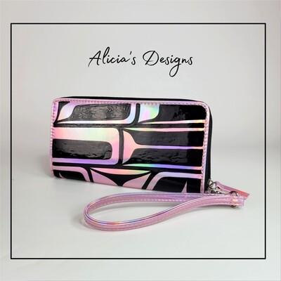 Iridescent Pink Wallet