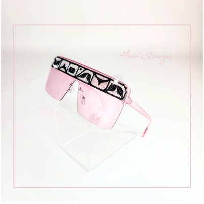 Pink Hologram Sunglasses