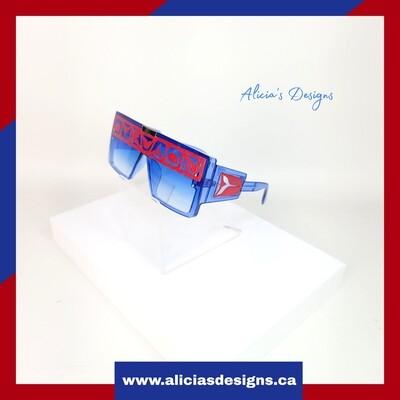 Blue/Red Sunglasses