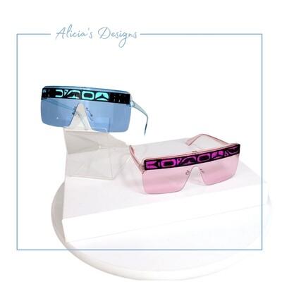 Blue Mosaic Sunglasses