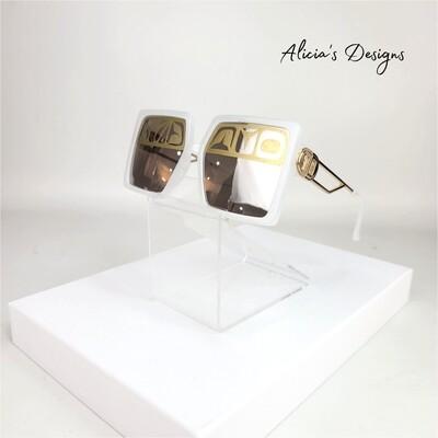 White / Gold Sunglasses