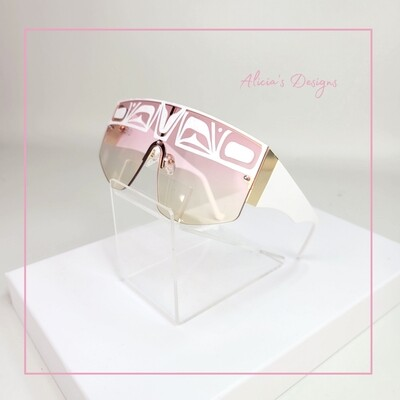 White & Pink Sunglasses