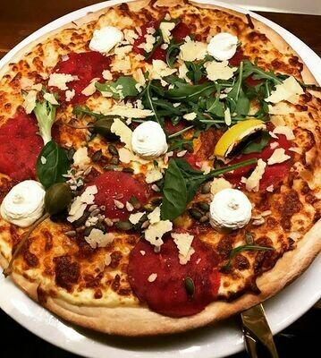 Pizza Carpaccio (Bianco)