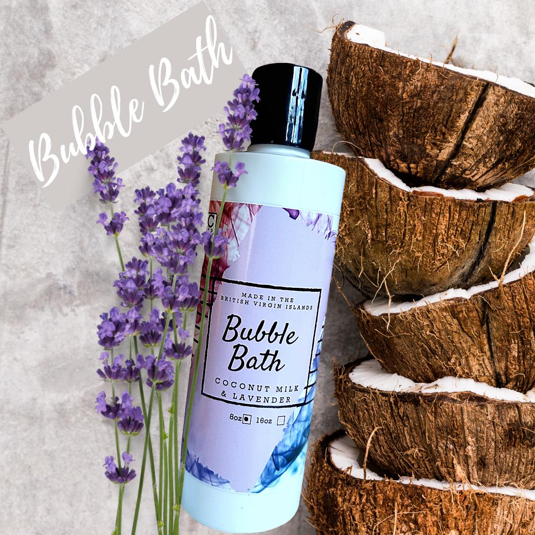 Coconut Milk & Lavender Bubble Bath 8oz