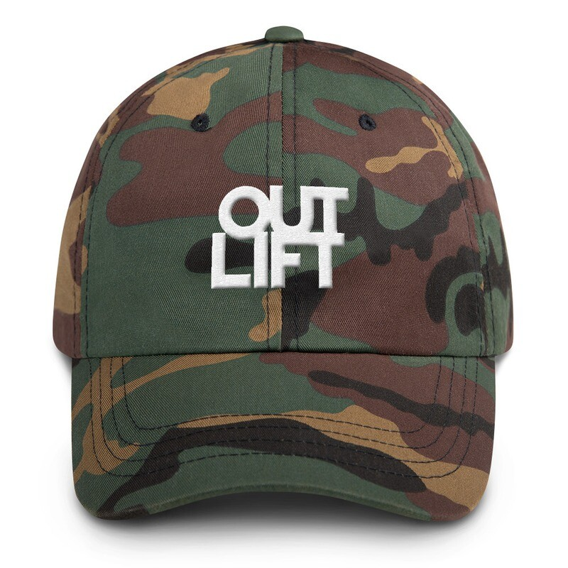 Camo Outlift Hidden Arrow Adjustable Hat