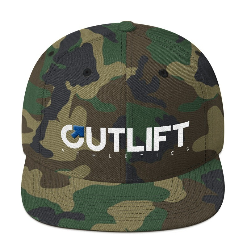 Camo Outlift Athletics Snapback Hat