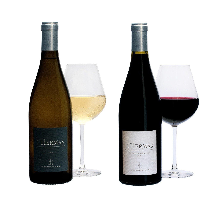 3 bouteilles L'HERMAS BLANC - Millésime 2019 + 3 bouteilles L'HERMAS ROUGE - Millésime 2018