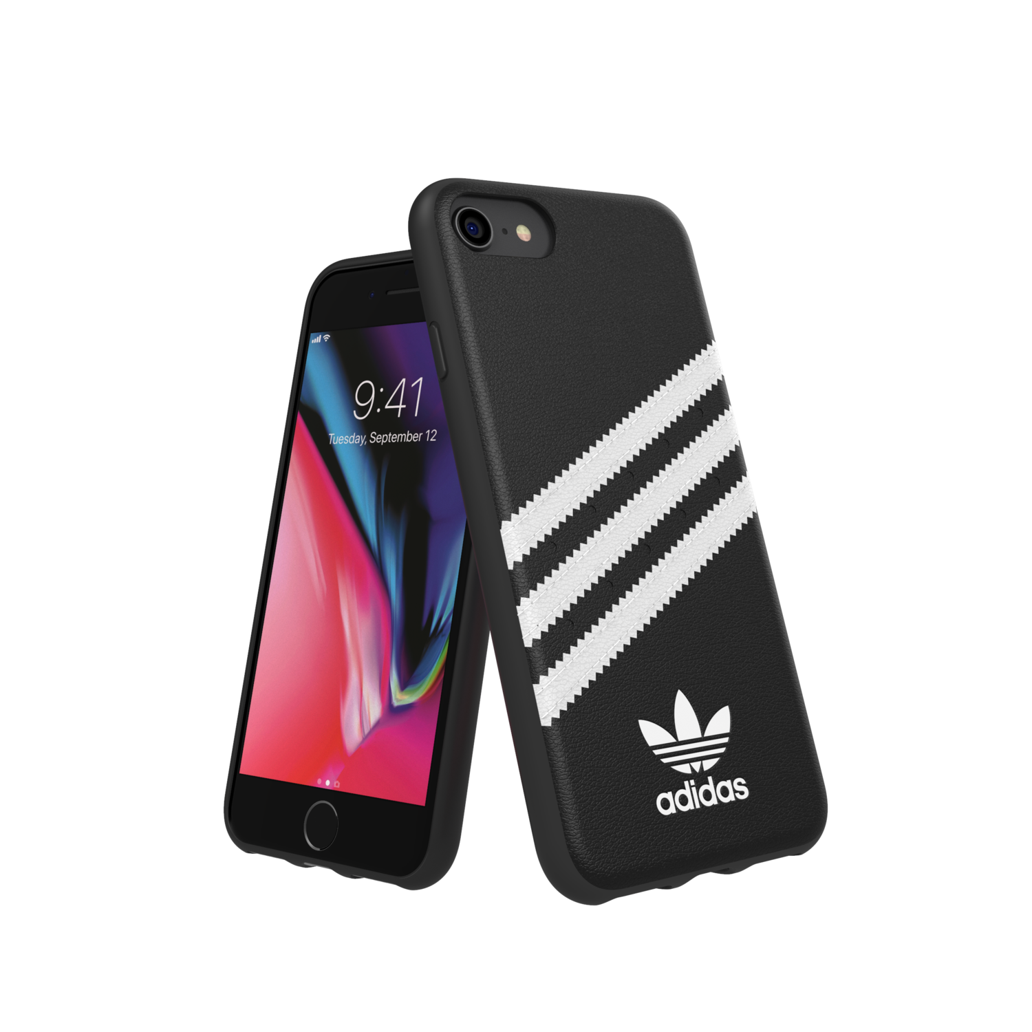 adidas OR Moulded Case PU FW18/SS21 for IPhone 6/6s/7/8/SE 2G black/white