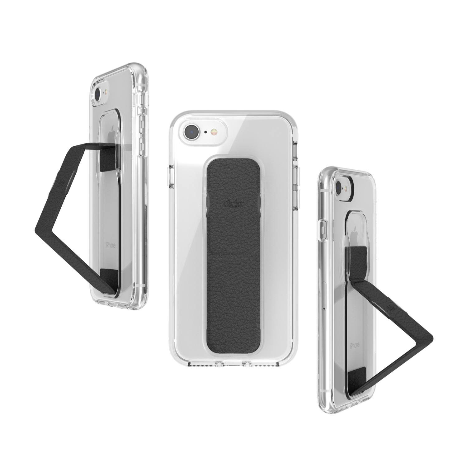 CLCKR CLEAR GRIPCASE FOUNDATION for IPhone 6/6s/7/8/SE 2G clear/black