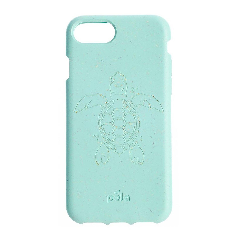 Pela Case Eco Friendly Case Turtle edition for IPhone 6/6s/7/8/SE 2G turquoise