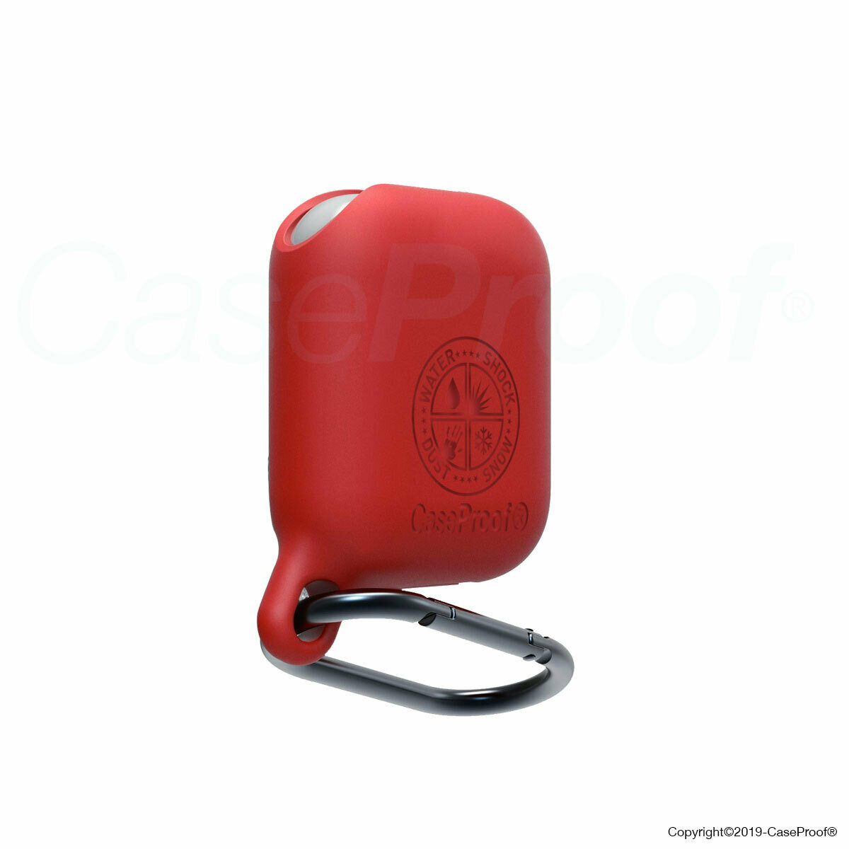 CaseProof Waterproof AirPods Case for AirPods red