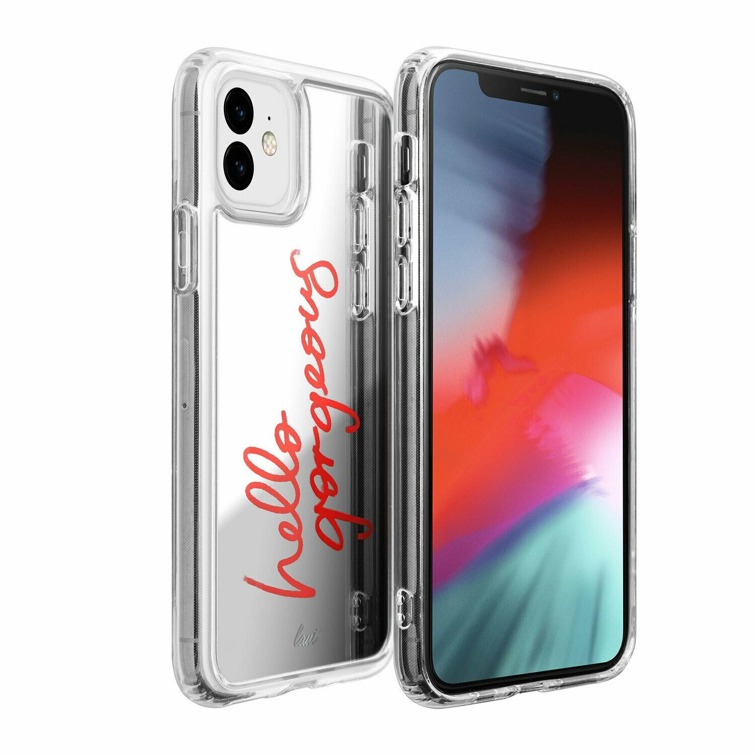 Laut Mirror Case for iPhone 11 silver colored