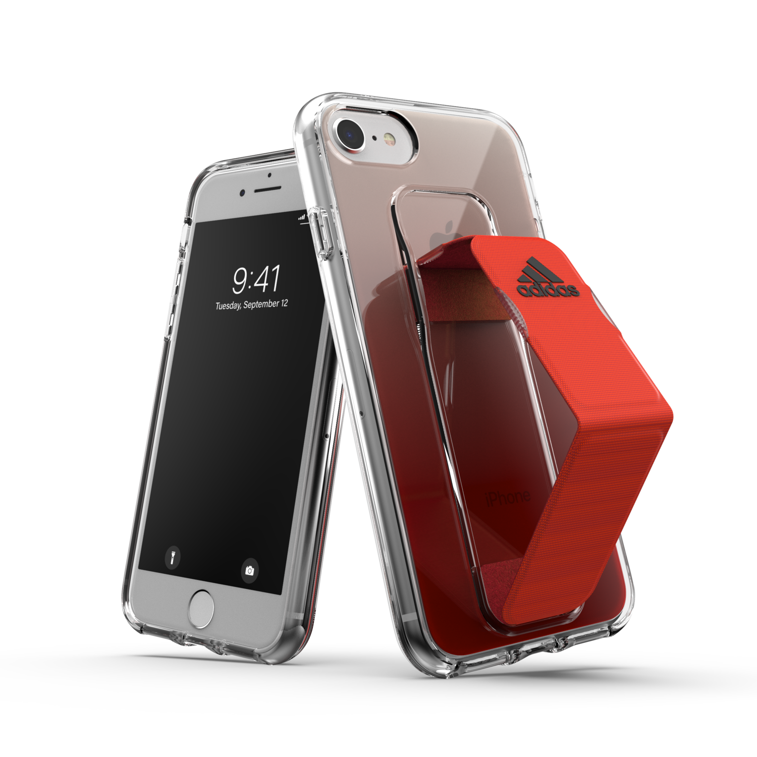 adidas SP Clear Grip Case SS20/SS21 for IPhone 6/6s/7/8/SE 2G solar red