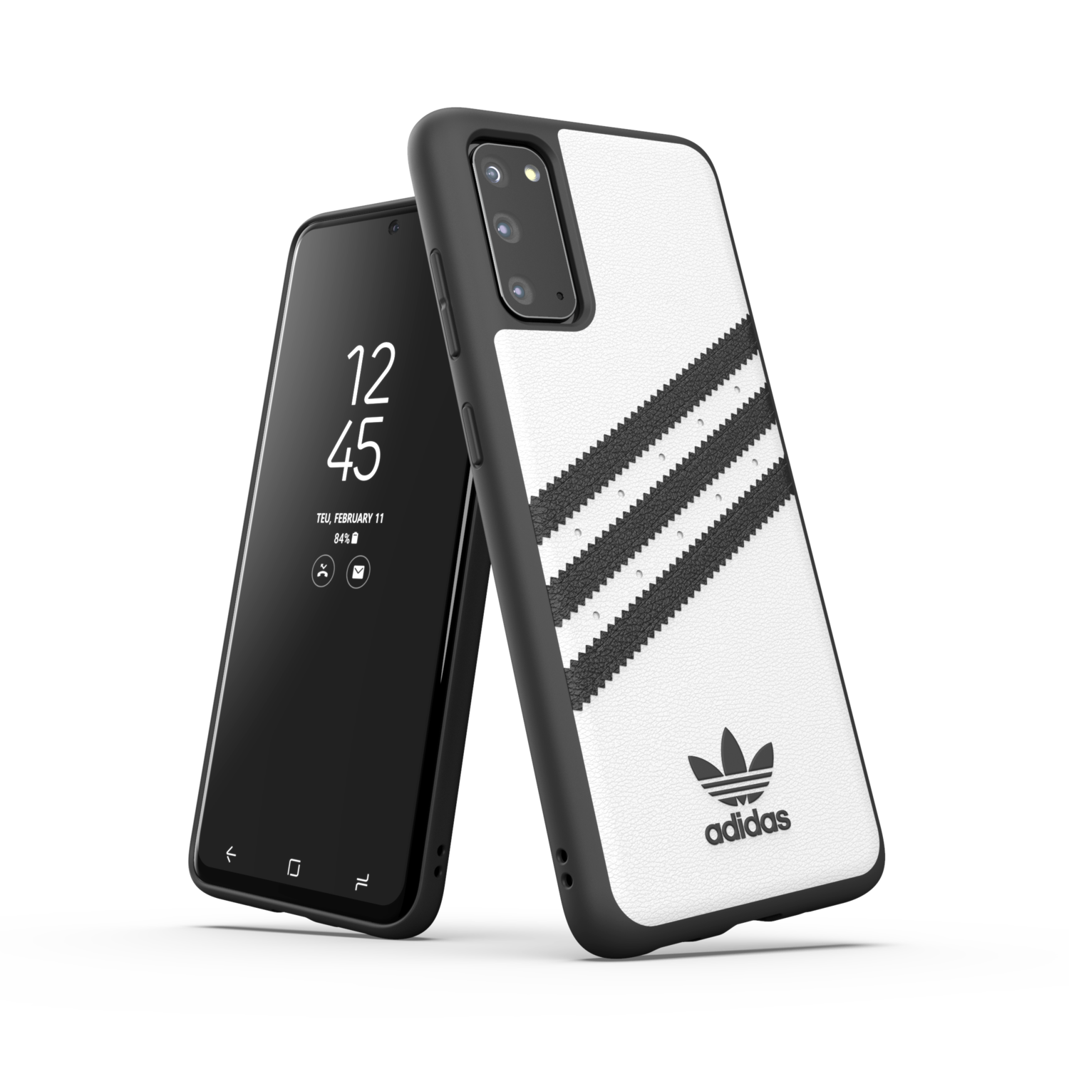 adidas OR Moulded Case PU SS20/SS21 for Galaxy S20 white/black