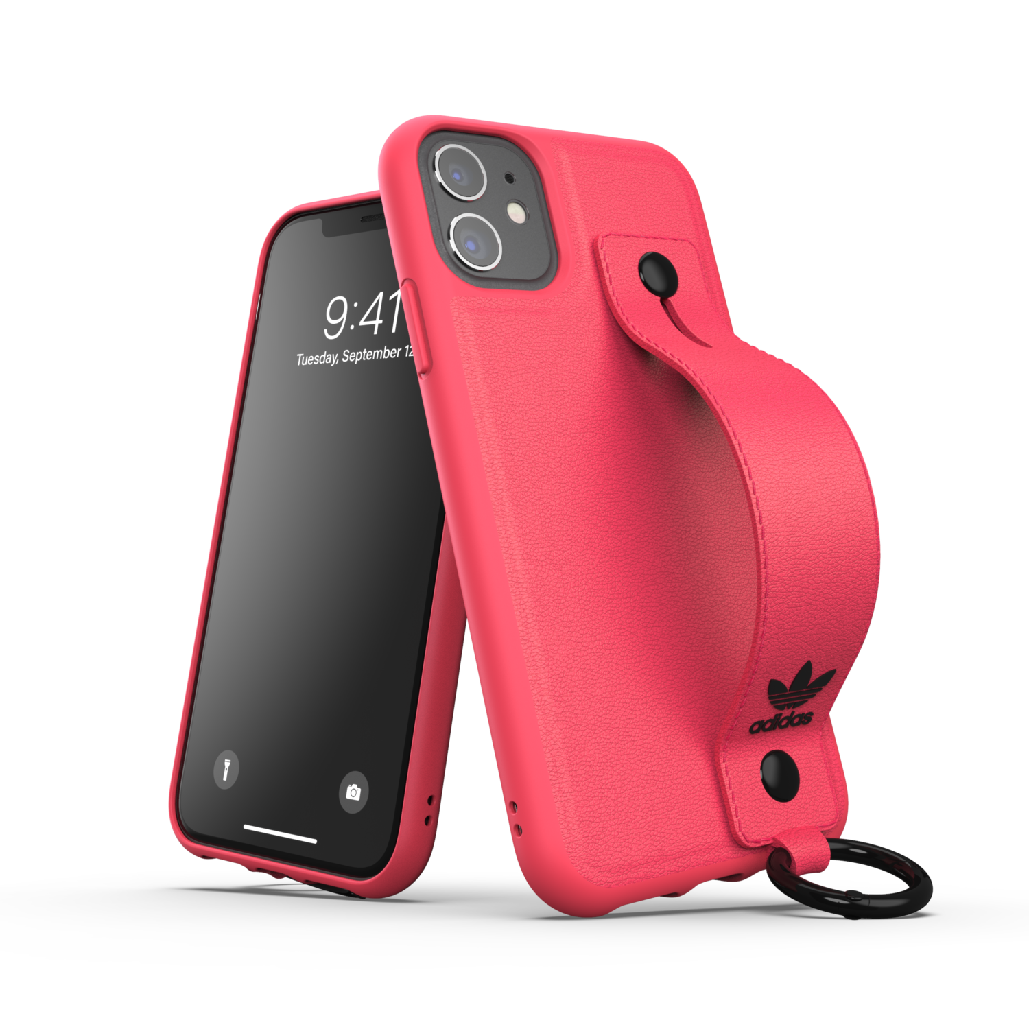 adidas OR Hand Strap Case FW20/SS21 for iPhone 11 signal pink