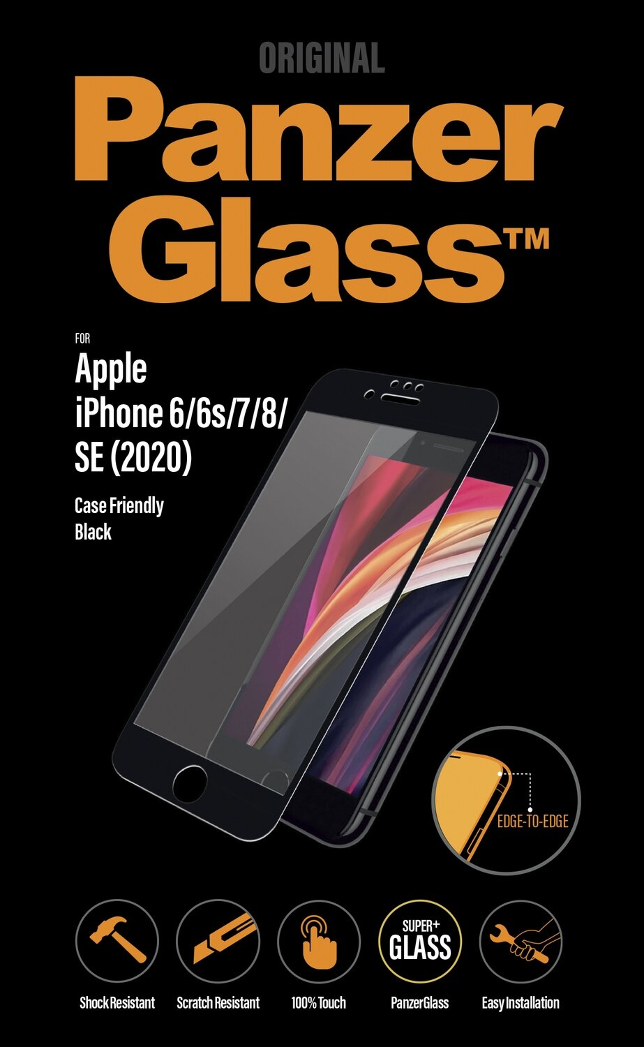 PanzerGlass Edge to Edge for IPhone 6/6s/7/8/SE 2 clear