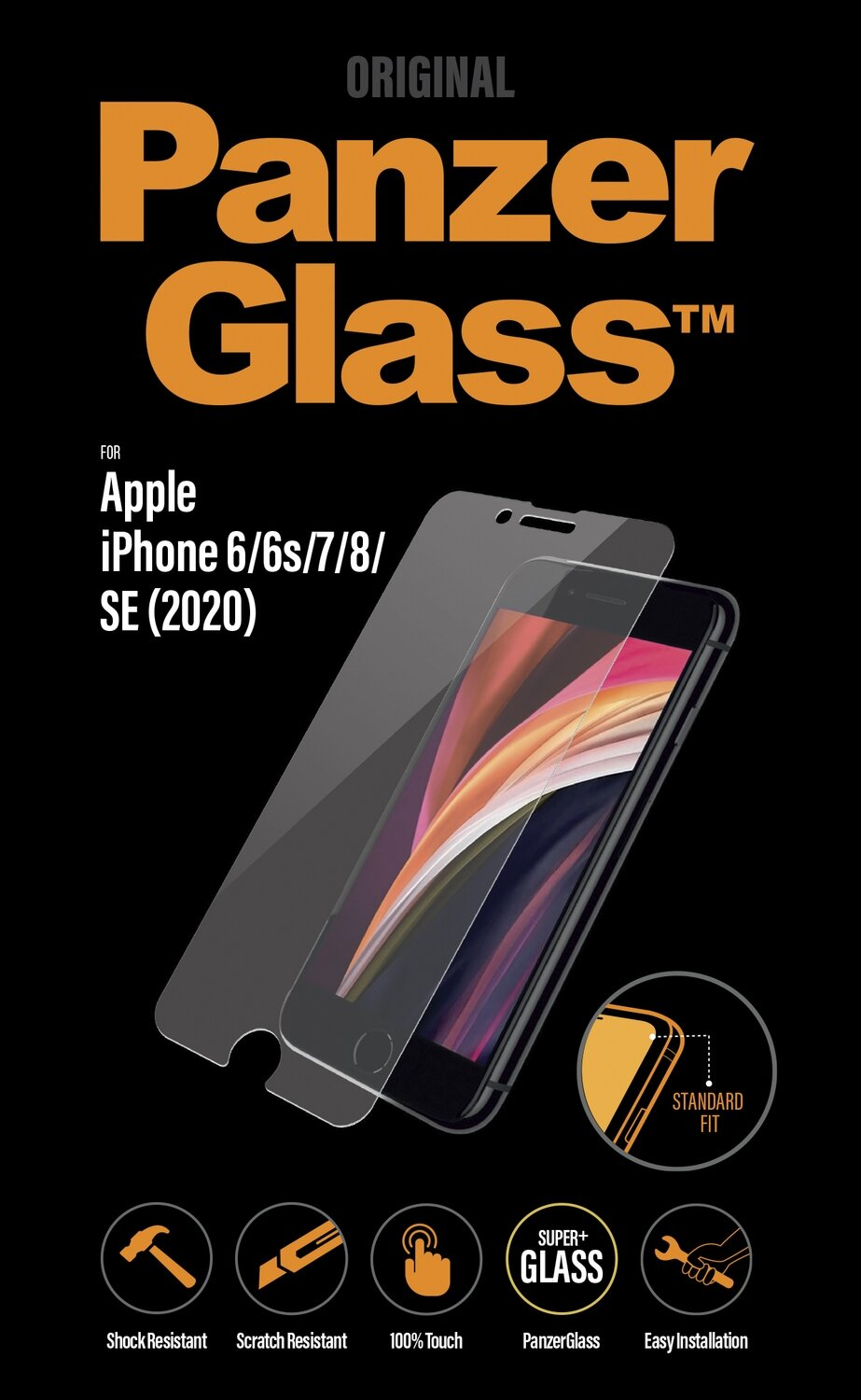 PanzerGlass Screen Protector for IPhone 6/6s/7/8/SE 2 clear