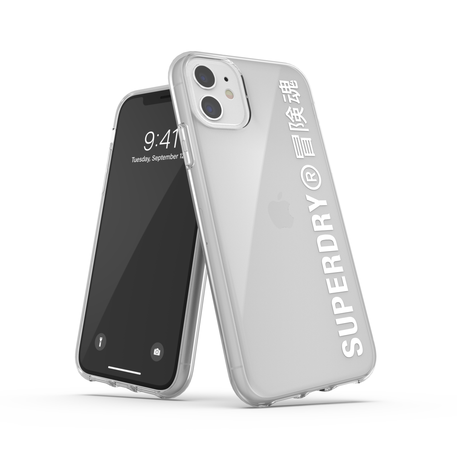 Superdry Snap Case Clear FW20/SS21 for iPhone 11 clear/white