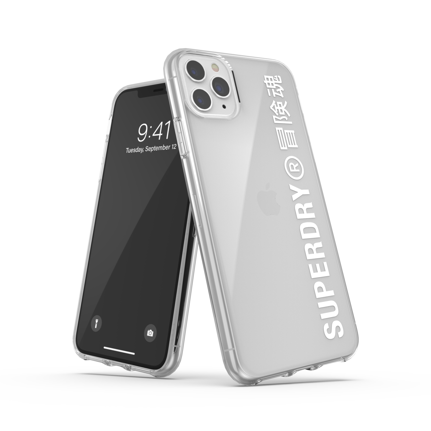 Superdry Snap Case Clear FW20/SS21 for iPhone 11 Pro Max clear/white