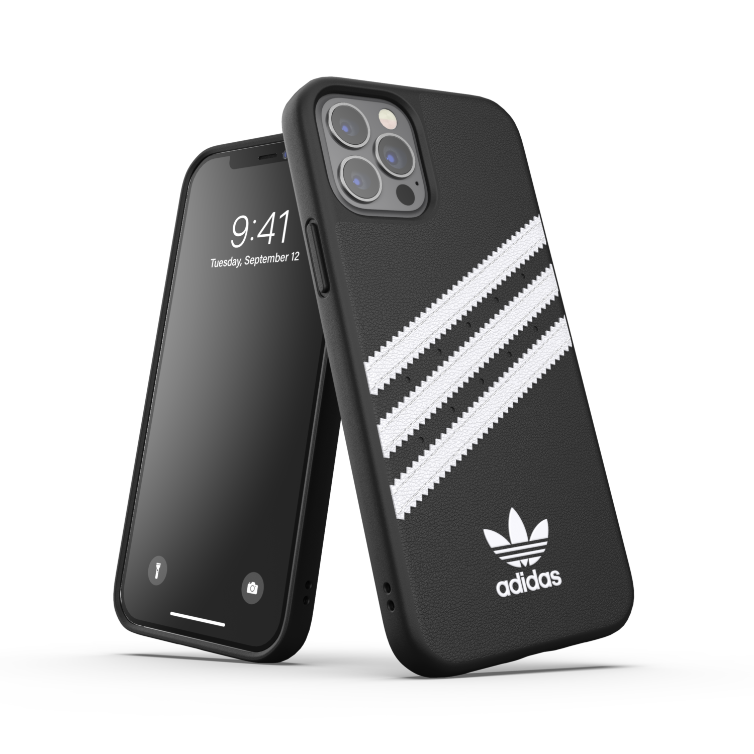 adidas OR Moulded Case PU FW20/SS21 for iPhone 12 / 12 Pro black/white