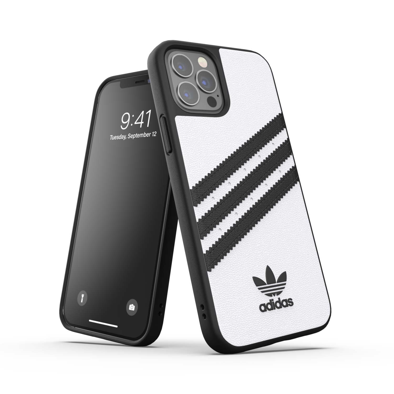 adidas OR Moulded Case PU FW20/SS21 for iPhone 12 / 12 Pro white/black