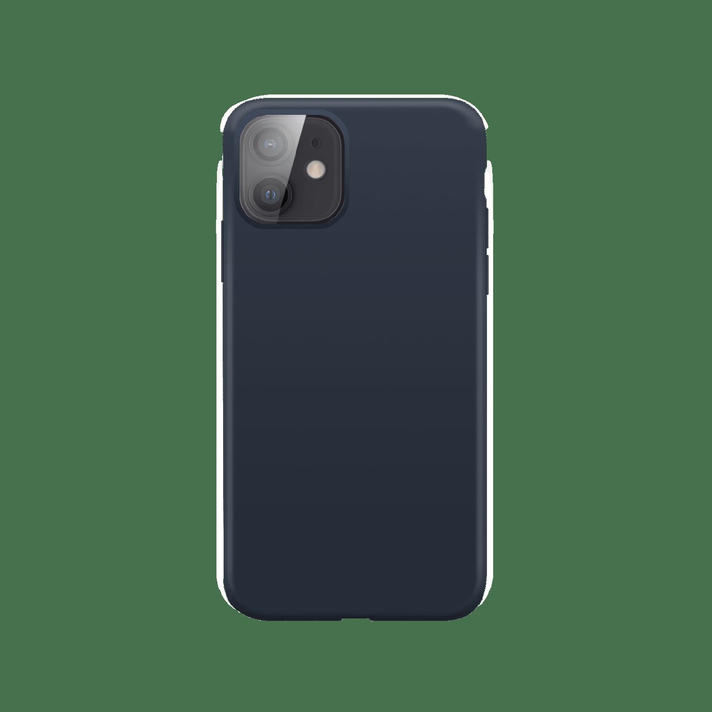XQISIT Silicone Case Anti Bac for iPhone 12 mini blue