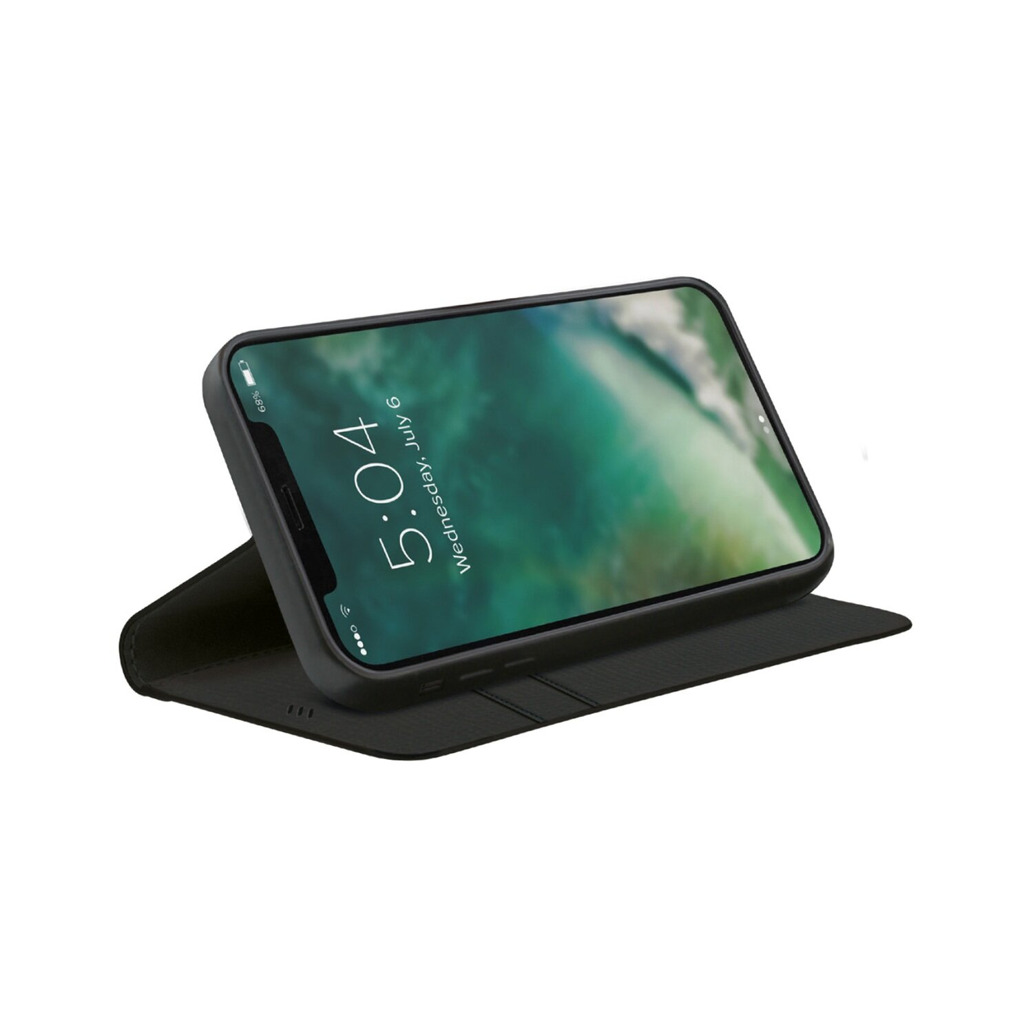 XQISIT Eco Wallet Selection Anti Bac for iPhone 12 mini black