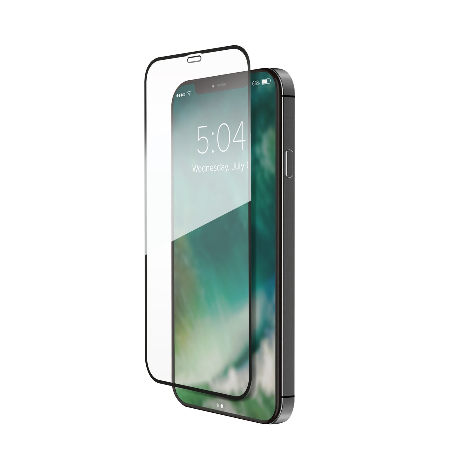 XQISIT Tough Glass Edge to Edge for iPhone 12 / 12 Pro clear
