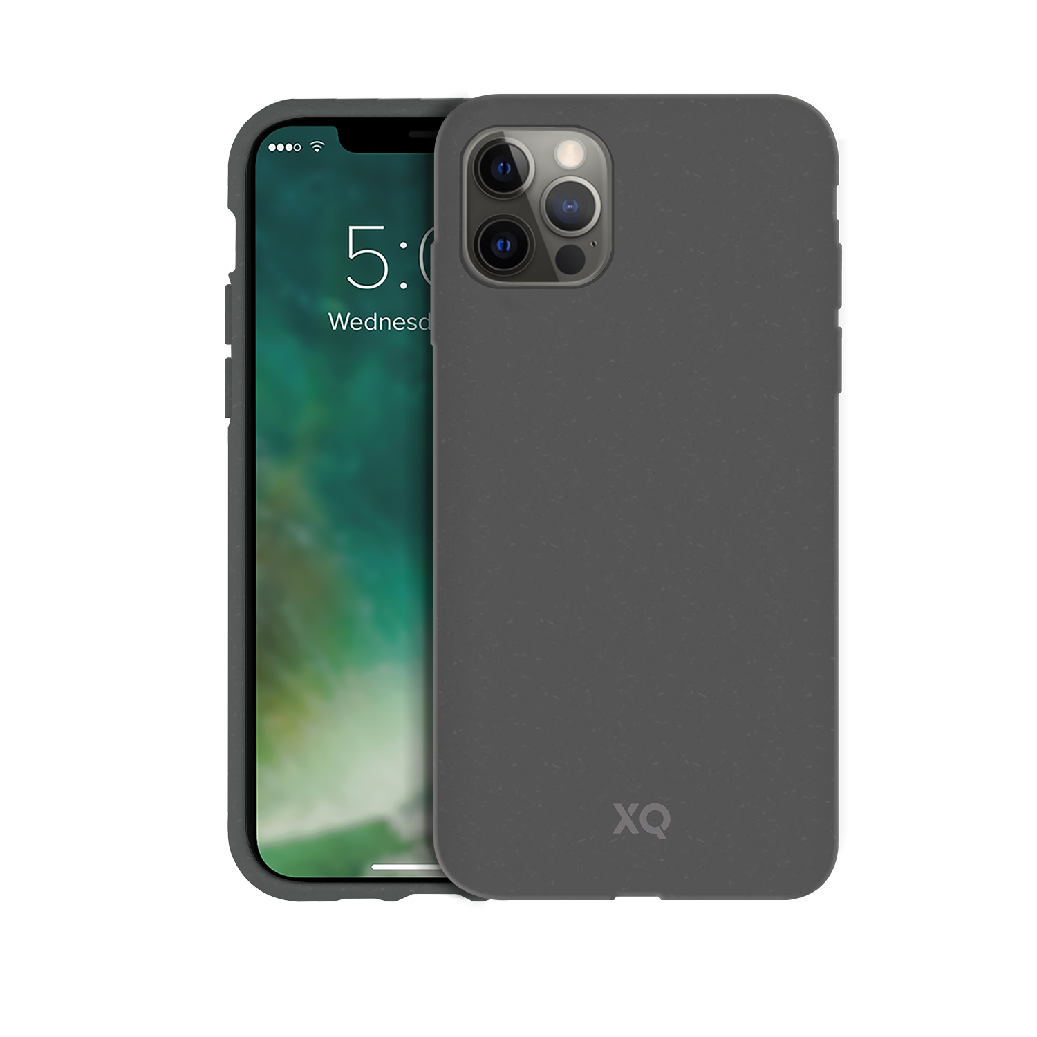 XQISIT Eco Flex Anti Bac for iPhone 12 Pro Max Mountain Grey