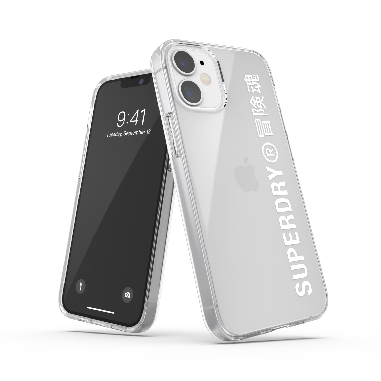 Superdry Snap Case Clear FW20/SS21 for iPhone 12 mini clear/white