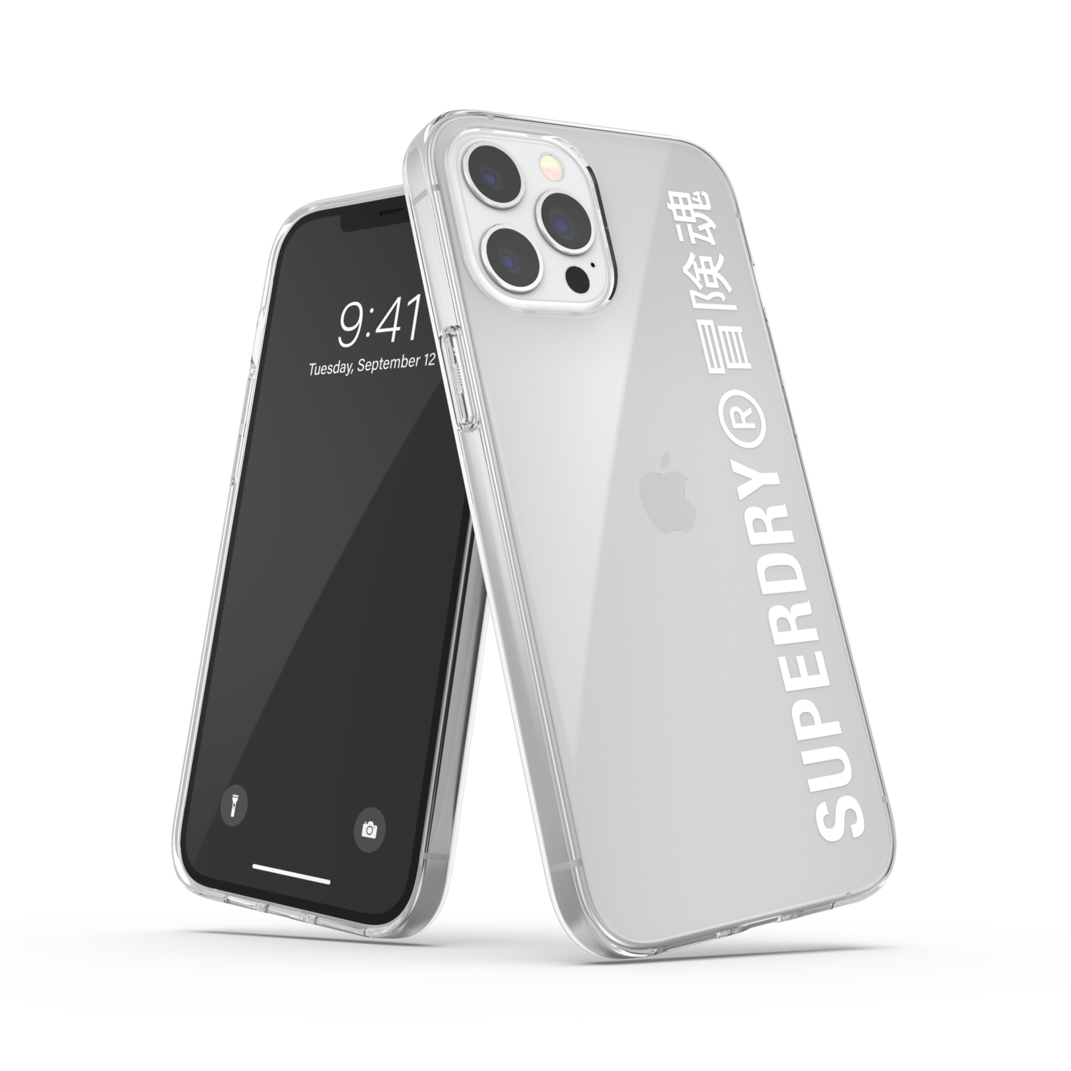 Superdry Snap Case Clear FW20/SS21 for iPhone 12 Pro Max clear/white