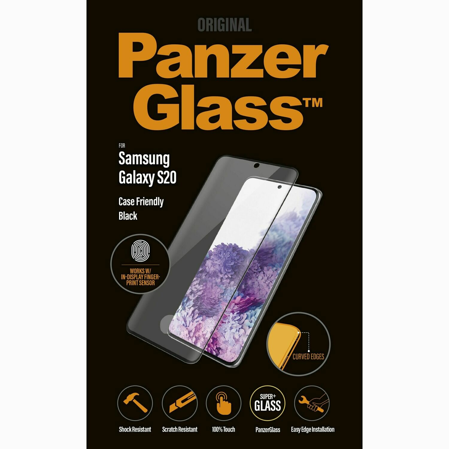 PanzerGlass CaseFriendly FP for Galaxy S20 black