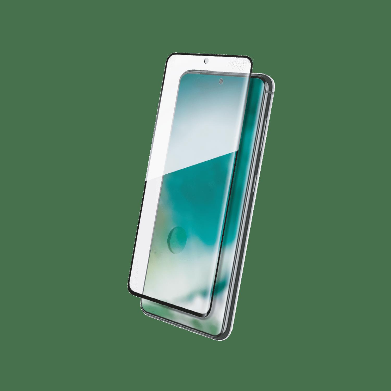 XQISIT Tough Glass E2E Curved for Galaxy S21 Ultra black