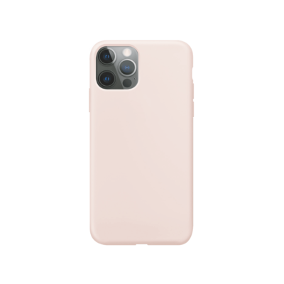 XQISIT Silicone Case Anti Bac for iPhone 12 Pro Max pink