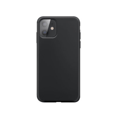 XQISIT Silicone Case Anti Bac for iPhone 12 mini black