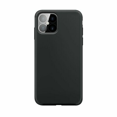 XQISIT Silicone Case Anti Bac for iPhone 12 Pro Max black