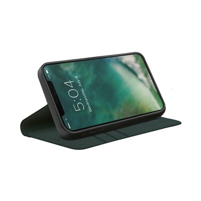 XQISIT Eco Wallet Selection Anti Bac for iPhone 12 / 12 Pro green