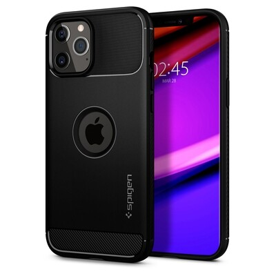 Spigen Rugged Armor for iPhone 12 Pro Max matt black