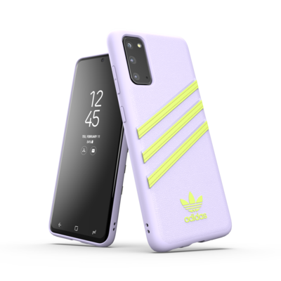 adidas OR Moulded case PU Woman SS20 for Galaxy S20 purple tint/hi-res yellow