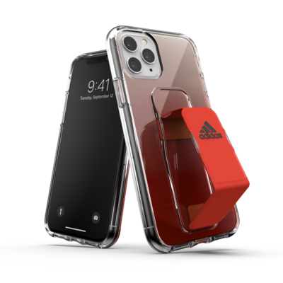 adidas SP Clear Grip Case SS20 for iPhone 11 Pro solar red